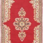 Hand-knotted Kerman Red Wool Rug 3'3″ x 16'5″