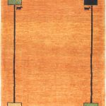 Hand-knotted Kashkuli Gabbeh Copper Wool Rug 3'7″ x 4'7″ (1)