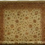 Hand-knotted Jamshidpour Beige Wool Rug 8'1″ x 10'2″
