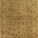Hand-knotted Jamshidpour Beige Wool Rug 9'0″ x 12'0″