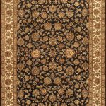 Hand-knotted Mirzapur Brown Wool Rug 6'1″ x 9'0″