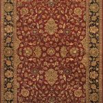 Hand-knotted Mirzapur Light Black, Light Burgundy Wool Rug 6'1″ x 8'9″