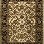 "Hand-knotted Mirzapur Brown Wool Rug 7'10"" x 10'1″"