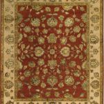 Hand-knotted Harrir Select Beige Wool/Silk Rug 8'1″ x 9'10""