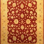 Hand-knotted Chobi Finest Beige, Red Wool Rug 5'0″ x 6'7″ (1)