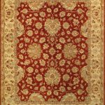 Hand-knotted Chobi Finest Beige Wool Rug 8'0″ x 10'3″