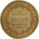 Hand-knotted Chobi Finest Beige Wool Rug 9'4″ x 9'4″