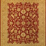 Hand-knotted Chobi Finest Beige, Orange Wool Rug 8'3″ x 9'10""