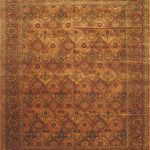 Hand-knotted Mirzapur Copper, Light Burgundy Wool Rug 12'0″ x 15'0″