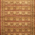 Hand-knotted Mirzapur Brown Wool Rug 11'7″ x 17'4″