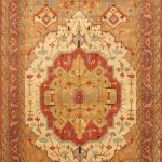 "Hand-knotted Sarabi Orange Wool Rug 11'10"" x 18'2″"
