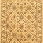 Hand-knotted Jamshidpour Beige Wool Rug 5'8″ x 8'9″