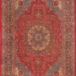 Hand-knotted Sabzevar Red Wool Rug 9'8″ x 13'6″