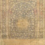 Hand-knotted Kashan Light Navy Wool Rug 10'0″ x 13'0″