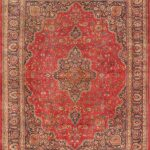 "Hand-knotted Sabzevar Light Navy, Red Wool Rug 9'10"" x 12'11"""