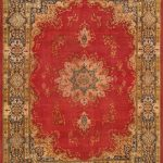 Hand-knotted Kerman Navy, Red Wool Rug 10'4″ x 13'5″