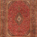 Hand-knotted Kashmar Red Wool Rug 9'7″ x 12'8″