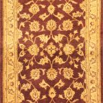 Hand-knotted Chobi Finest Brown Wool Rug 4'2″ x 6'7″