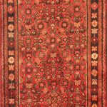 Hand-knotted Hosseinabad Tribal Runner Wool Rug 3'4″ x 13'1″