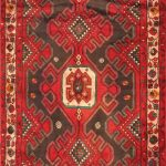 Hand-knotted Saveh Brown, Red Wool Rug 3'9″ x 10'10""