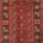 Hand-knotted Kurdish Select Light Black, Red Wool Rug 3'3″ x 9'7″