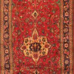 Hand-knotted Sarough Red Wool Rug 4'7″ x 10'11""