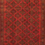Hand-knotted Kurdish Select Red Wool Rug 5'0″ x 9'6″