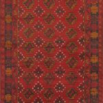 Hand-knotted Bahor Red Wool Rug 3'5″ x 6'2″ (1)