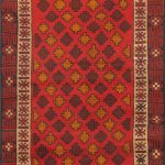 Hand-knotted Herati Light Camel, Red Wool Rug 3'5″ x 6'5″
