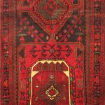 Hand-knotted Zanjan Red Wool Rug 4'3″ x 11'8″