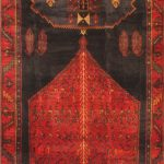 Hand-knotted Zanjan Red Wool Rug 4'6″ x 13'3″