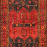 Hand-knotted Koliai Light Black, Red Wool Rug 5'0″ x 9'8″