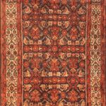 Hand-knotted Malayer Red Wool Rug 3'5″ x 9'10""
