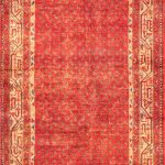 """Hand-knotted Arak Red Wool Rug 3'6″ x 10'11"""""""