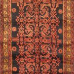 Hand-knotted Malayer Red Wool Rug 3'3″ x 12'4″