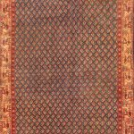 Hand-knotted Arak Pink Wool Rug 3'4″ x 9'9″