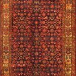 Hand-knotted Hosseinabad Brown Wool Rug 3'6″ x 10'5″