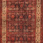 Hand-knotted Malayer Pink Wool Rug 3'3″ x 9'7″