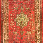 Hand-knotted Lilihan Pink Wool Rug 3'5″ x 9'9″