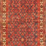 Hand-knotted Borchelu Brown Wool Rug 3'4″ x 11'9″