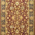 Hand-knotted Pako Persian 18/20 Red Wool Rug 6'1″ x 9'4″