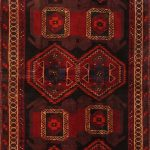 Hand-knotted Luri Red Wool Rug 5'3″ x 14'2″