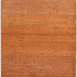 Hand-knotted Persian Gabbeh Pink Wool Rug 3'0″ x 4'7″