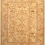 Hand-knotted Chobi Finest Beige Wool Rug 6'7″ x 8'2″