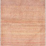 Hand-knotted Persian Gabbeh Pink Wool Rug 3'2″ x 4'8″