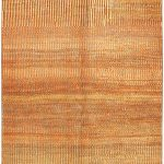 Hand-knotted Persian Gabbeh Beige, Pink Wool Rug 4'9″ x 6'2″