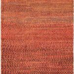 Hand-knotted Persian Gabbeh Pink Wool Rug 2'9″ x 9'0″