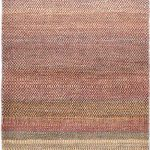 Hand-knotted Persian Gabbeh Pink Wool Rug 3'3″ x 9'4″