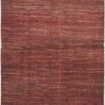 Hand-knotted Persian Gabbeh Burgundy Wool Rug 3'1″ x 9'8″