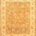 "Hand-knotted Chobi Finest Beige Wool Rug 7'10"" x 9'7″"